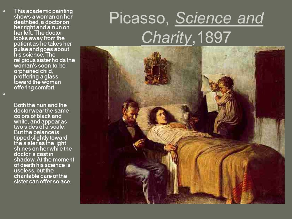 Picasso, Science and Charity,1897