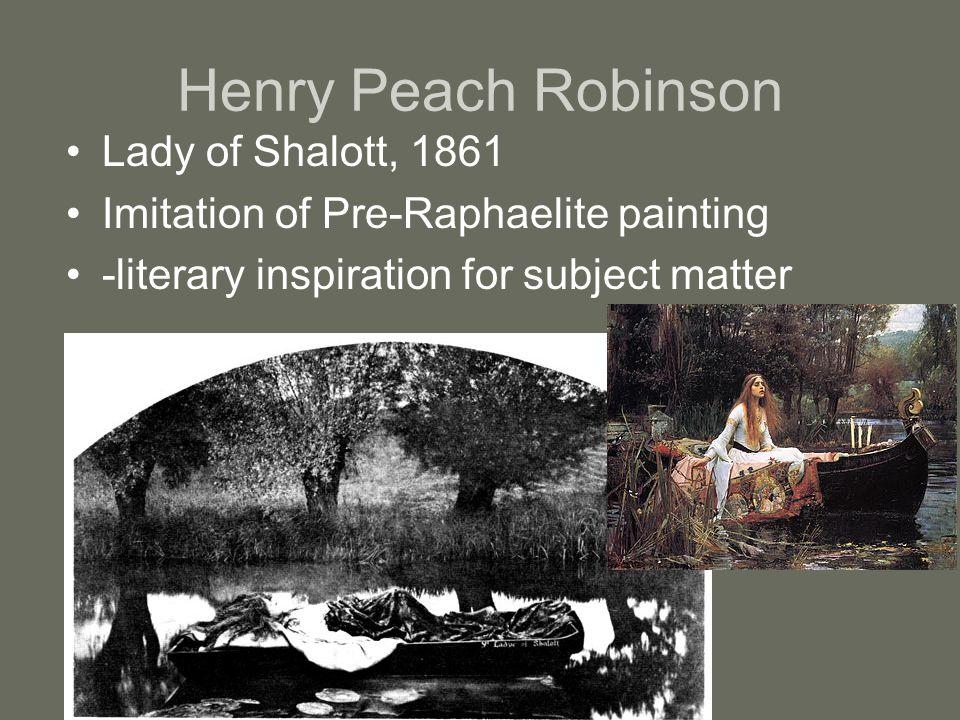 Henry Peach Robinson Lady of Shalott, 1861