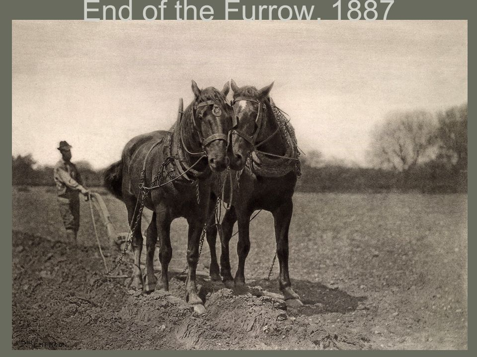 End of the Furrow, 1887