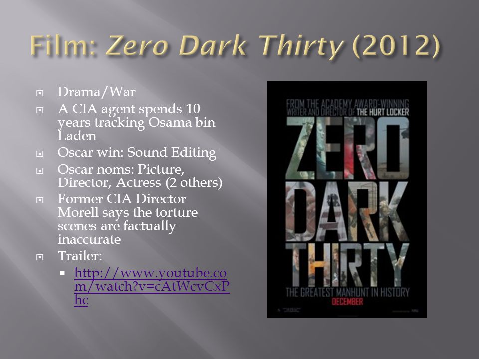 Film: Zero Dark Thirty (2012)