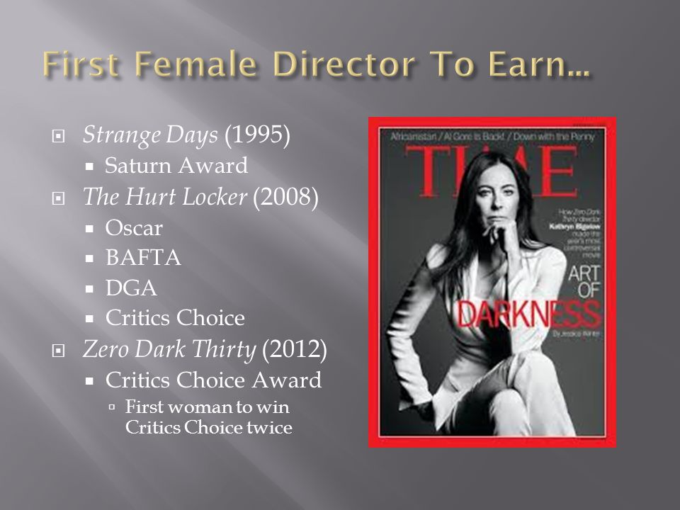 First Female Director To Earn...