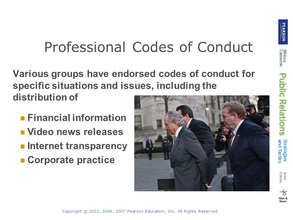 Professional Codes of Conduct
