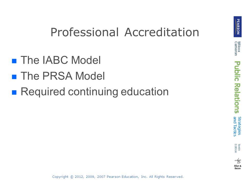 Professional Accreditation