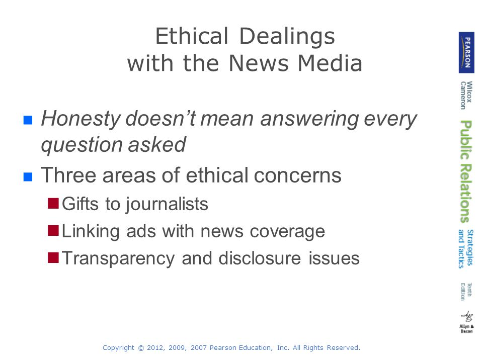 Ethical Dealings with the News Media