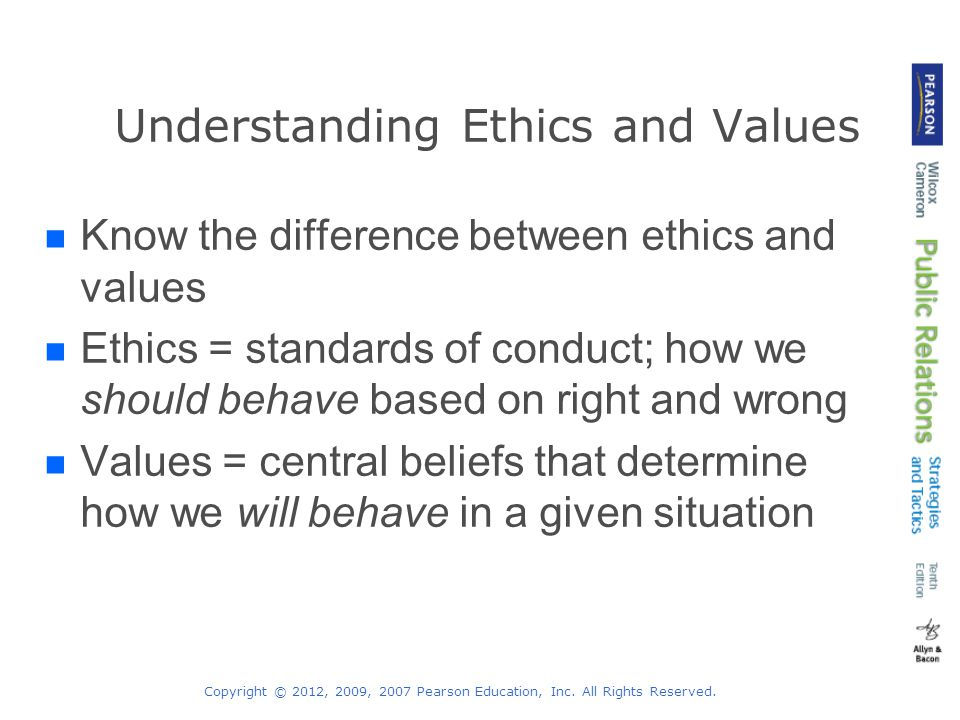 Understanding Ethics and Values
