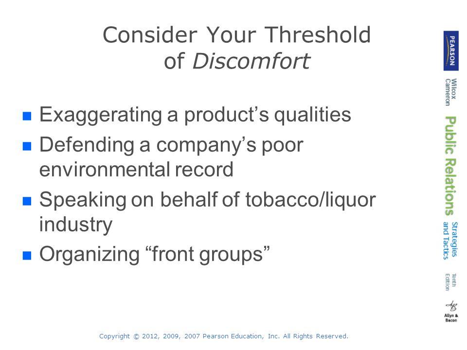 Consider Your Threshold of Discomfort