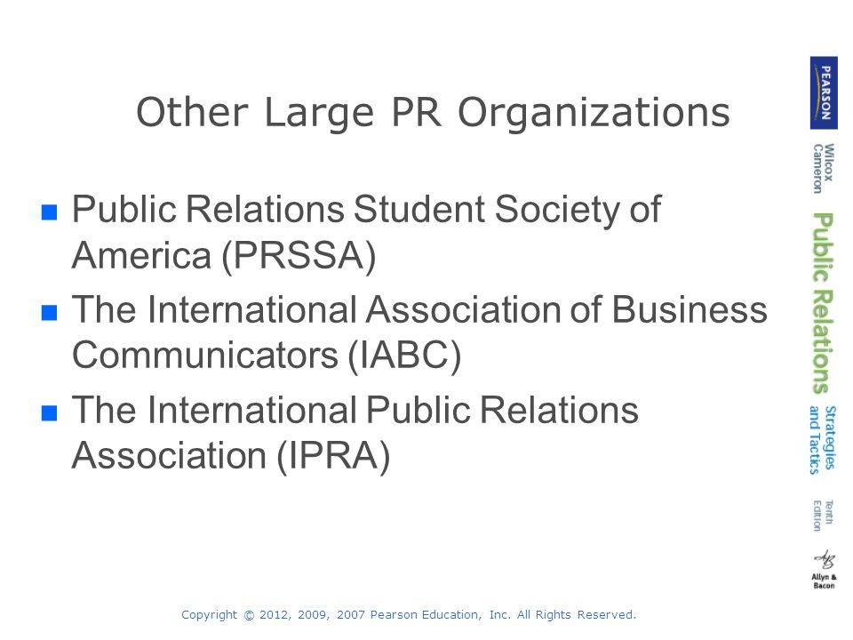 Other Large PR Organizations