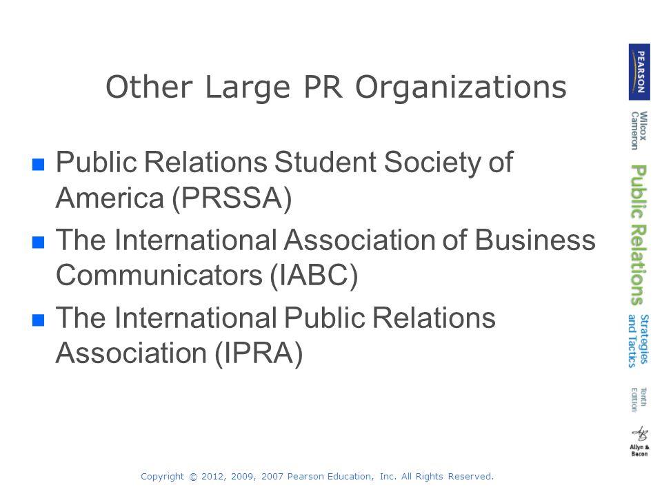 Other Large PR Organizations