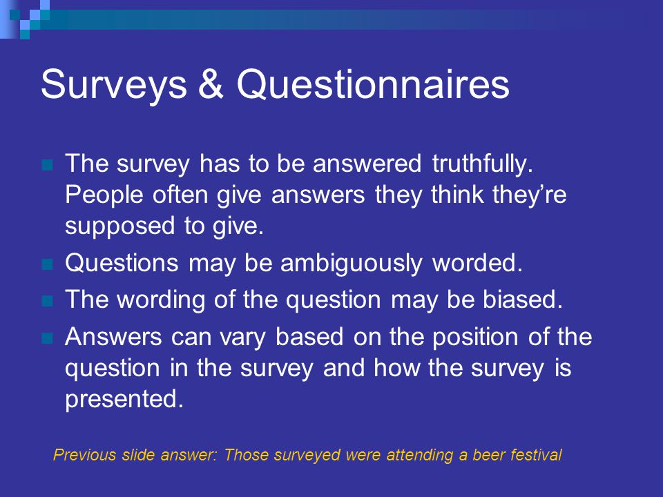 Surveys & Questionnaires