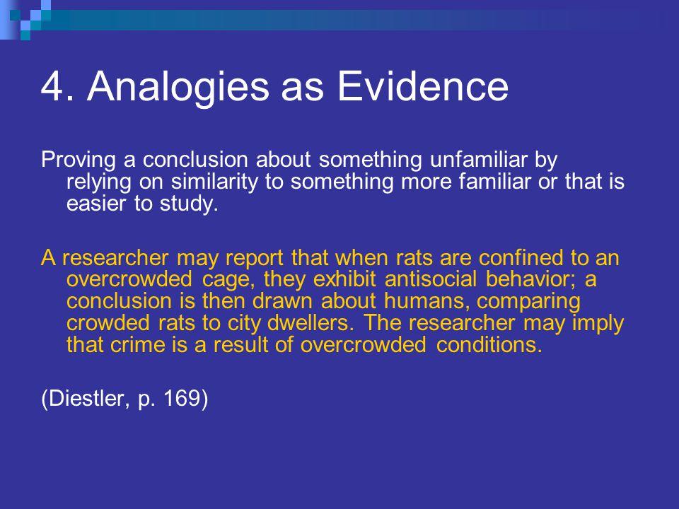 4. Analogies as Evidence