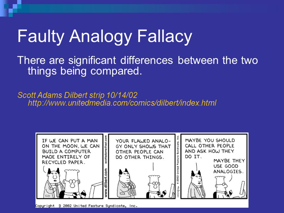 Faulty Analogy Fallacy