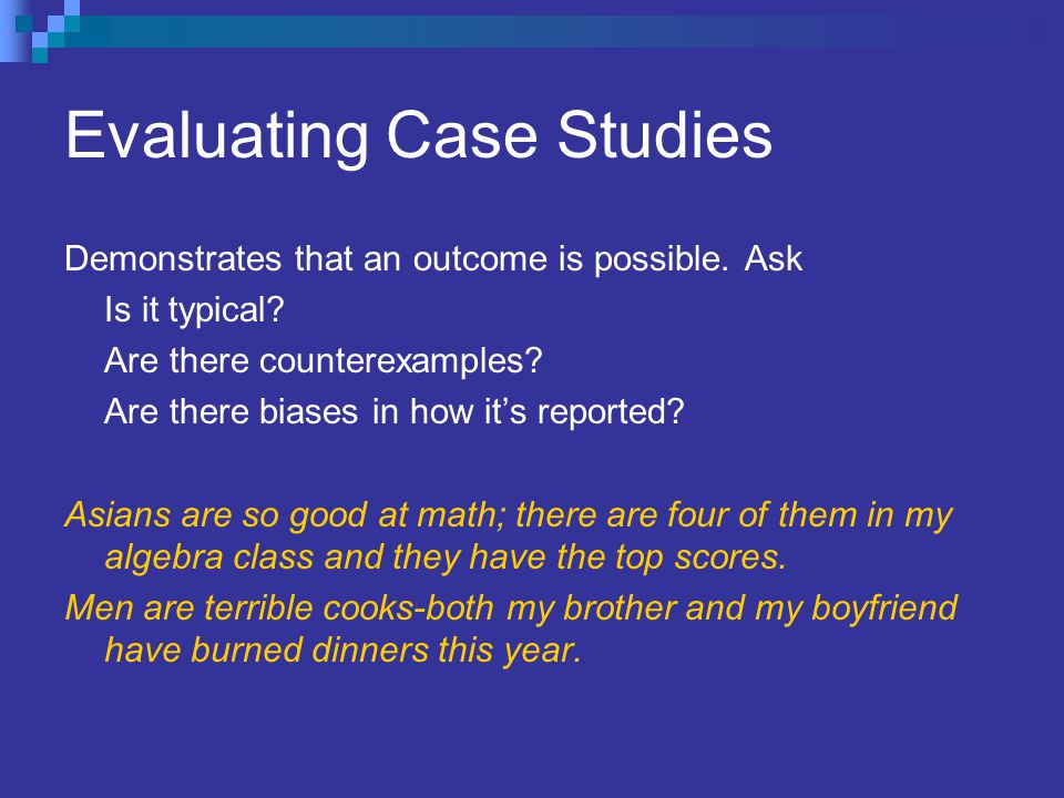 Evaluating Case Studies
