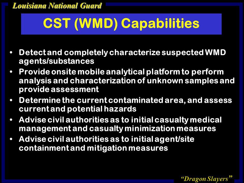 CST (WMD) Capabilities
