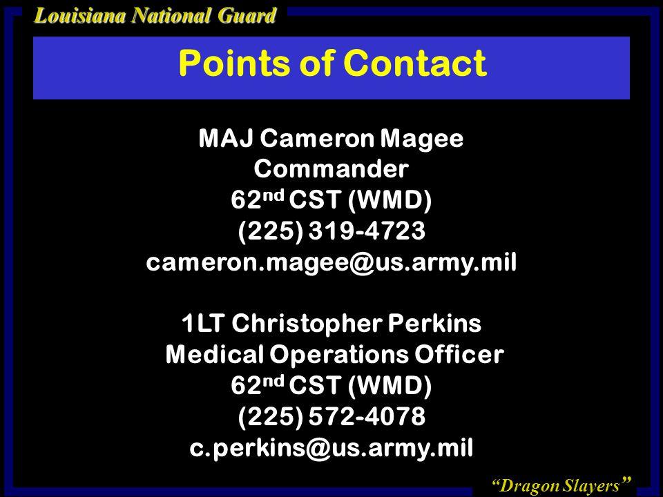 1LT Christopher Perkins Medical Operations Officer