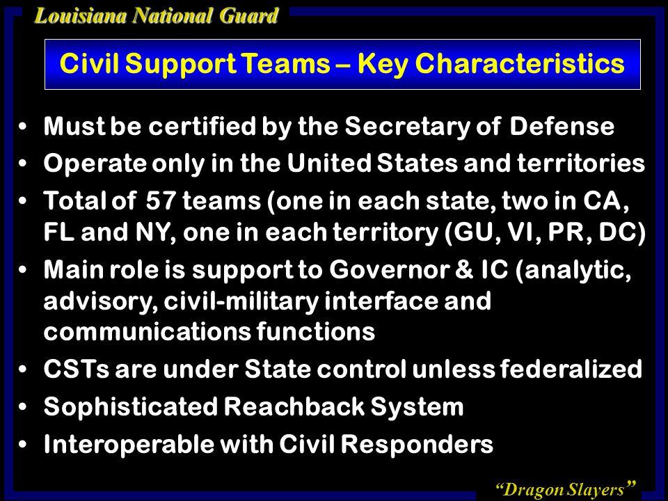 Civil Support Teams – Key Characteristics