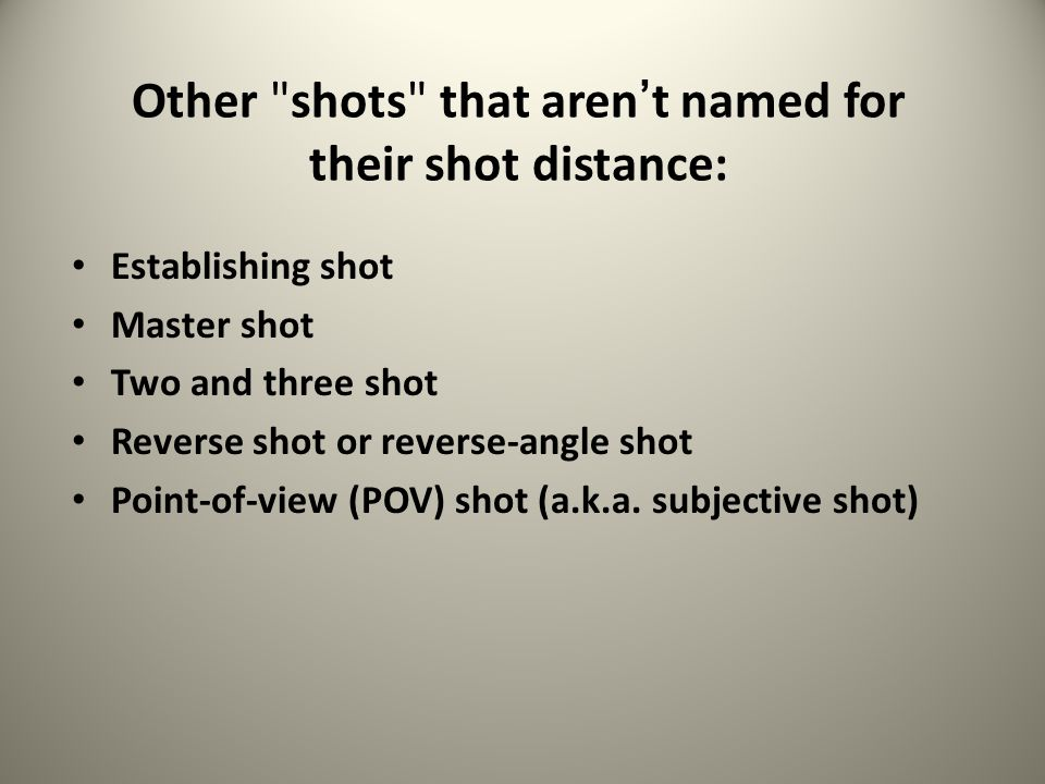 Other shots that aren't named for their shot distance: