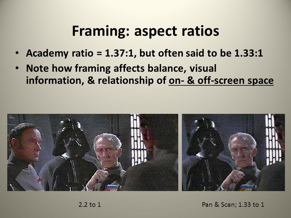 Framing: aspect ratios