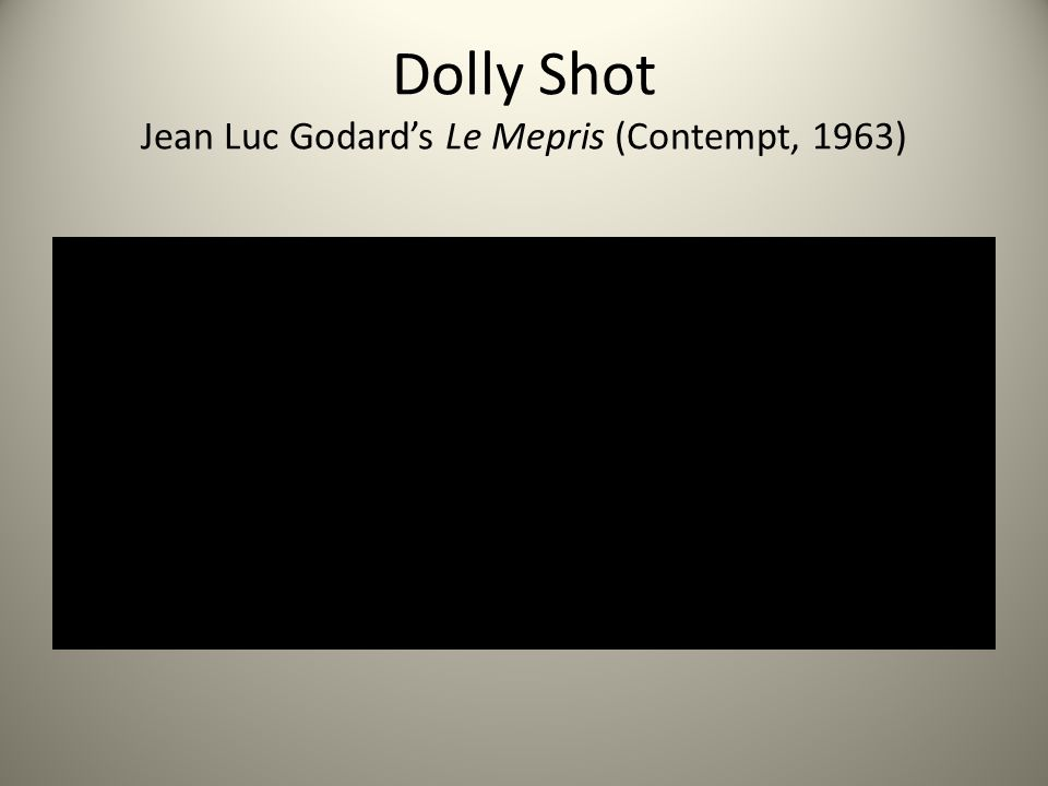 Dolly Shot Jean Luc Godard's Le Mepris (Contempt, 1963)