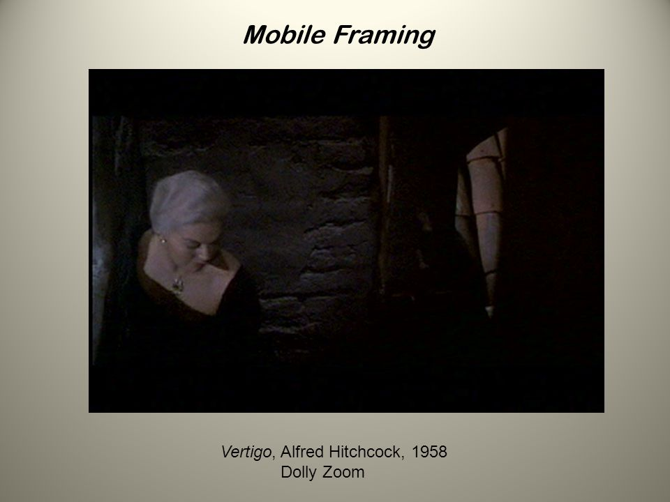 Mobile Framing Vertigo, Alfred Hitchcock, 1958 Dolly Zoom