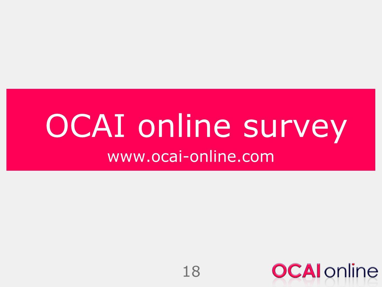 OCAI online survey www.ocai-online.com