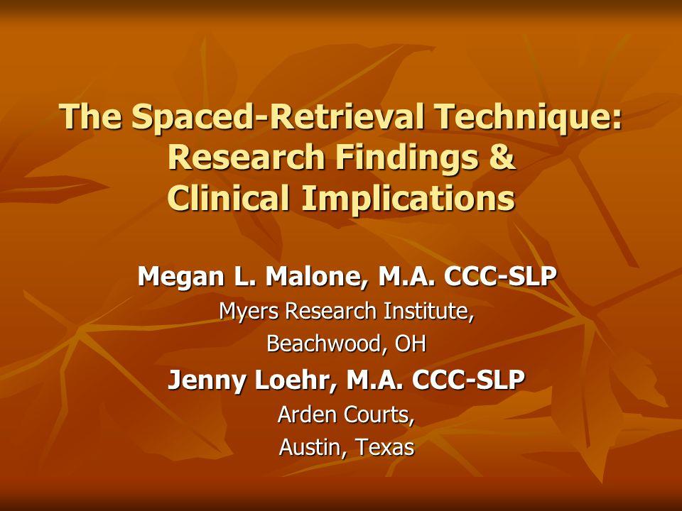 Megan L. Malone, M.A. CCC-SLP