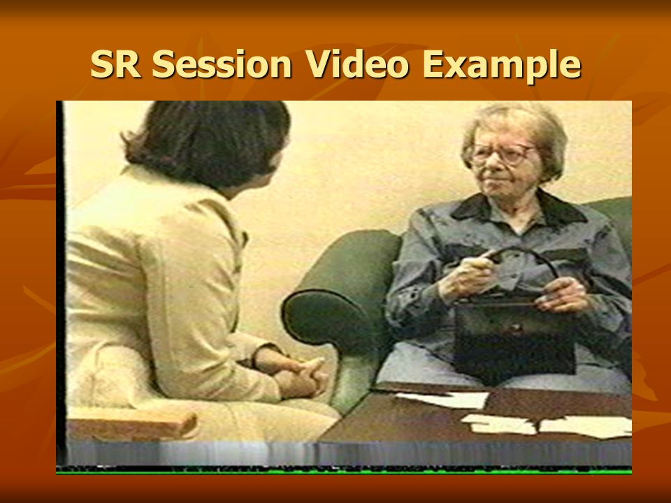 SR Session Video Example