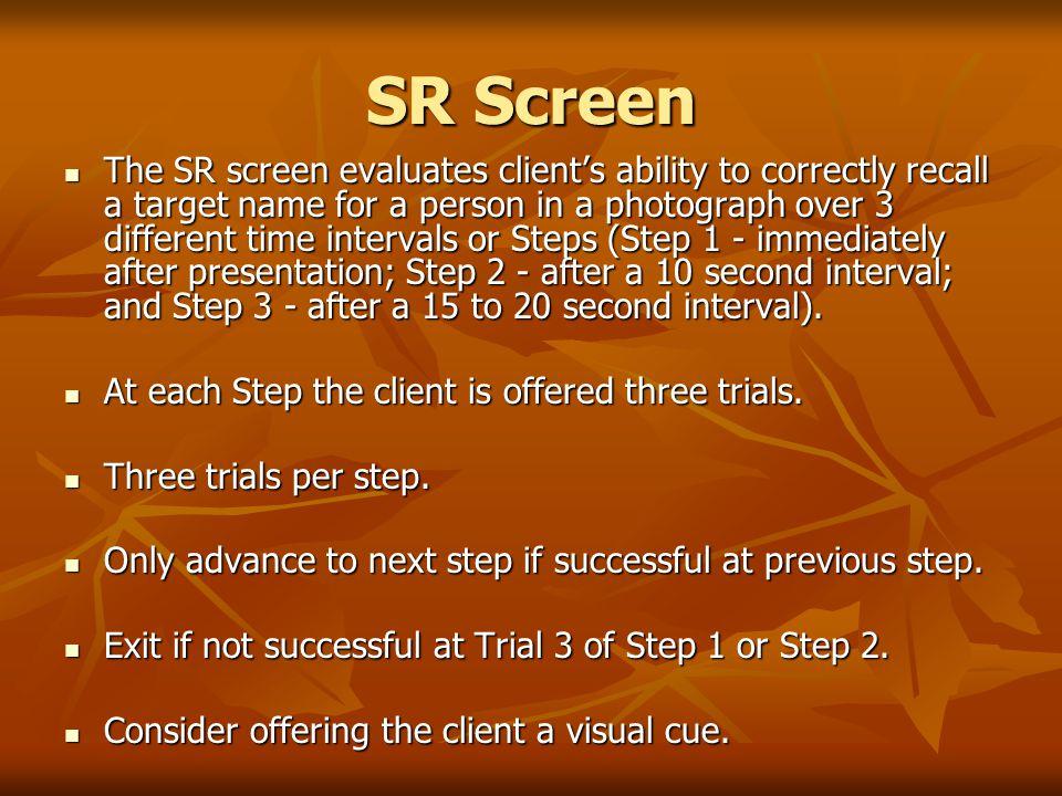 SR Screen