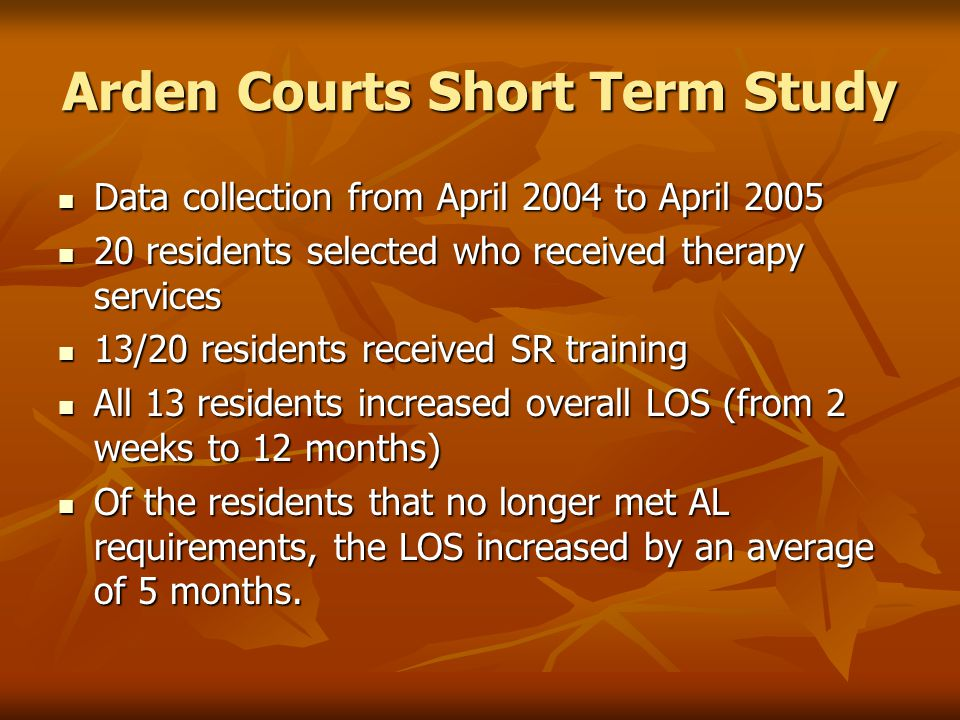 Arden Courts Short Term Study