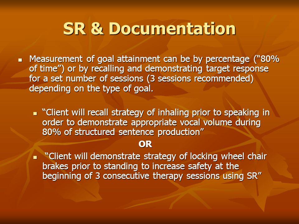 SR & Documentation