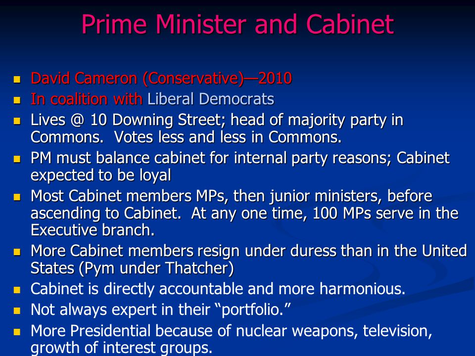 Prime Minister and Cabinet