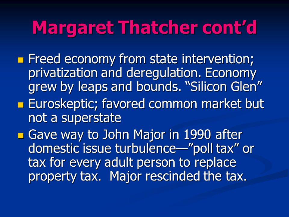 Margaret Thatcher cont'd