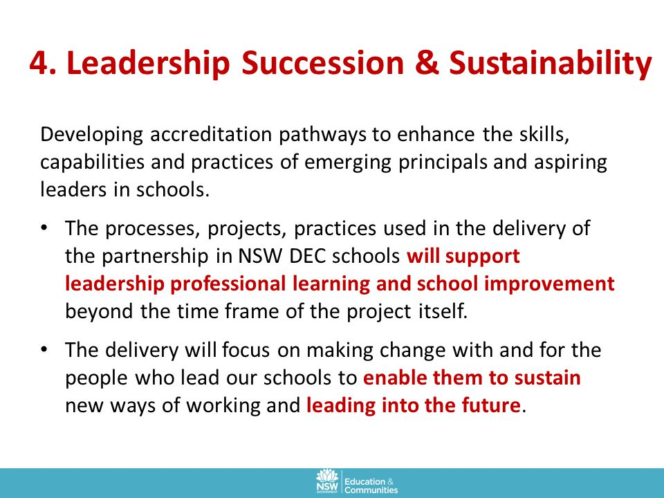 4. Leadership Succession & Sustainability