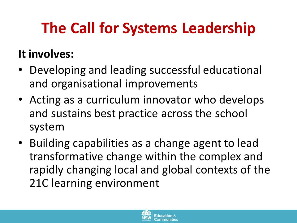 The Call for Systems Leadership