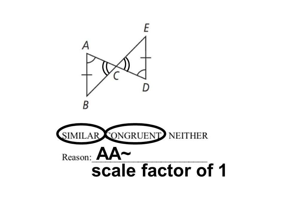 AA~ scale factor of 1