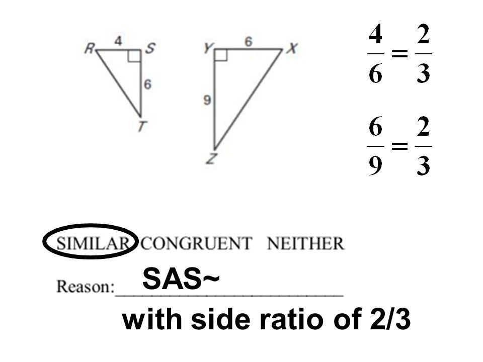 SAS~ with side ratio of 2/3