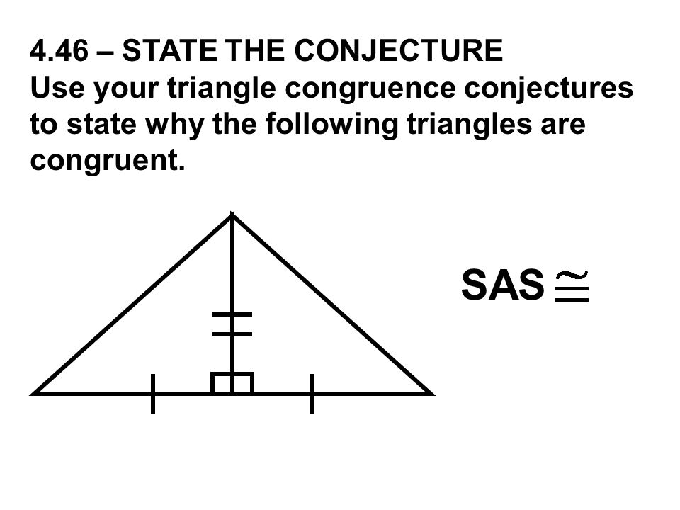 SAS 4.46 – STATE THE CONJECTURE