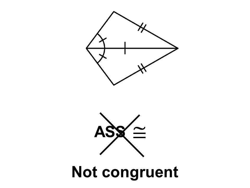 ASS Not congruent