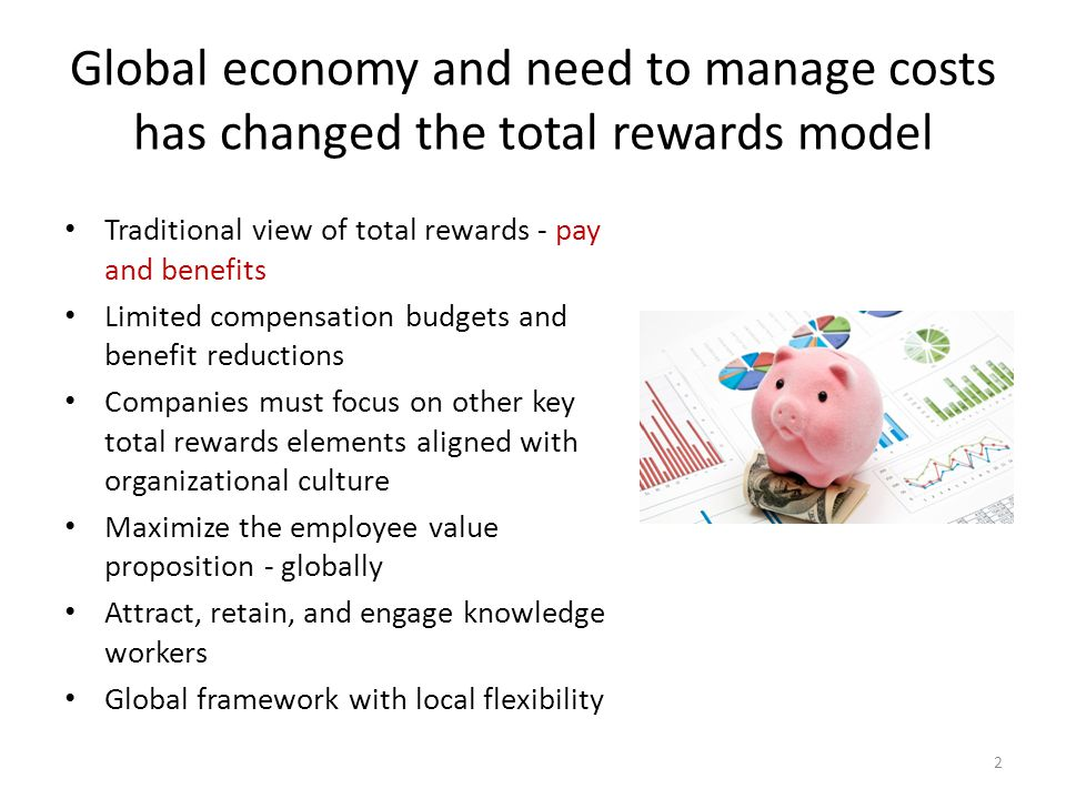 Global economy and need to manage costs has changed the total rewards model