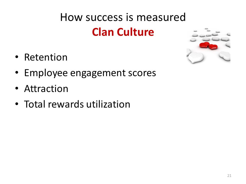 How success is measured Clan Culture