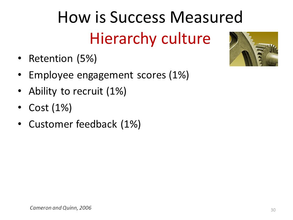 How is Success Measured Hierarchy culture