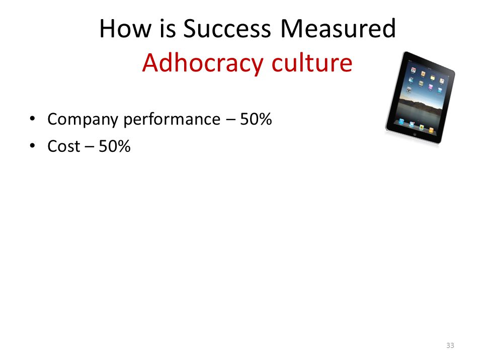 How is Success Measured Adhocracy culture