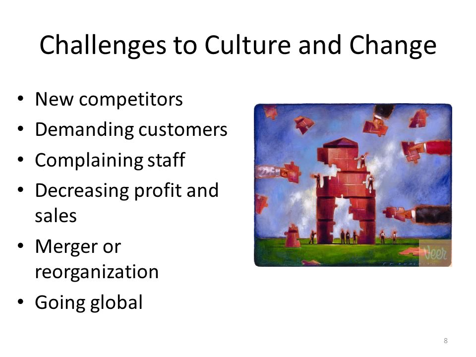 Challenges to Culture and Change