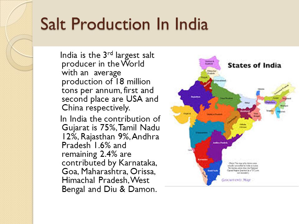 Salt Production In India