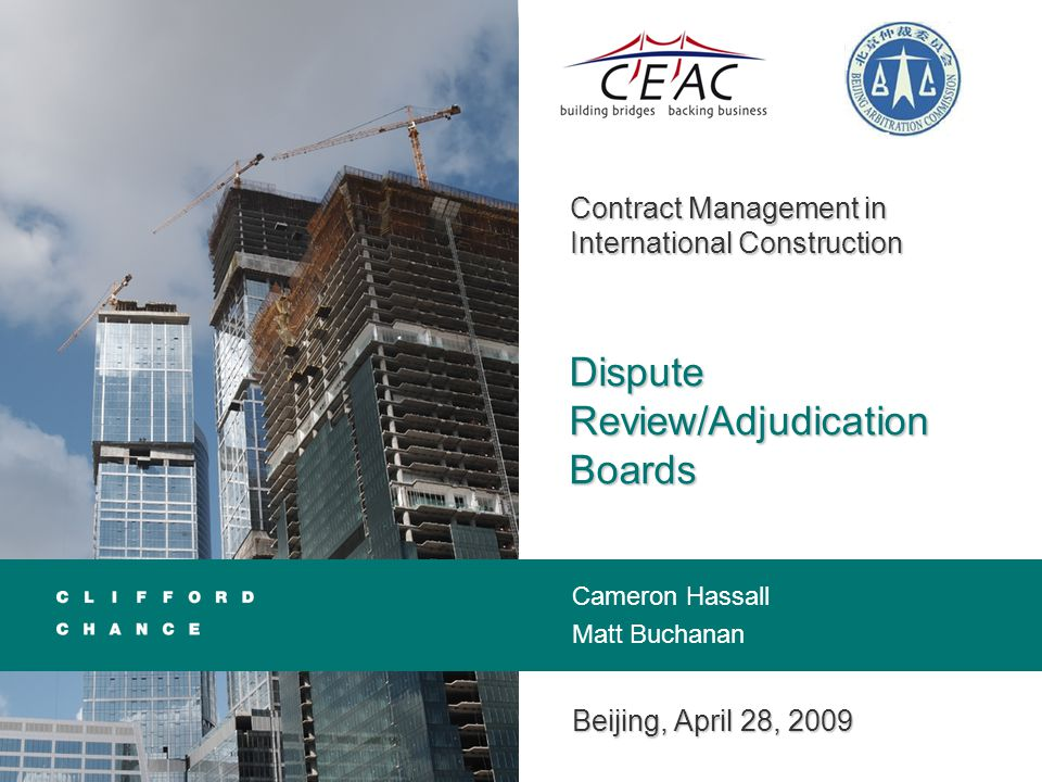 General Overview Dispute Boards in the Construction Process Mediation