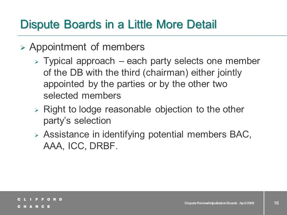 The DB Agreement Standard form or bespoke approach