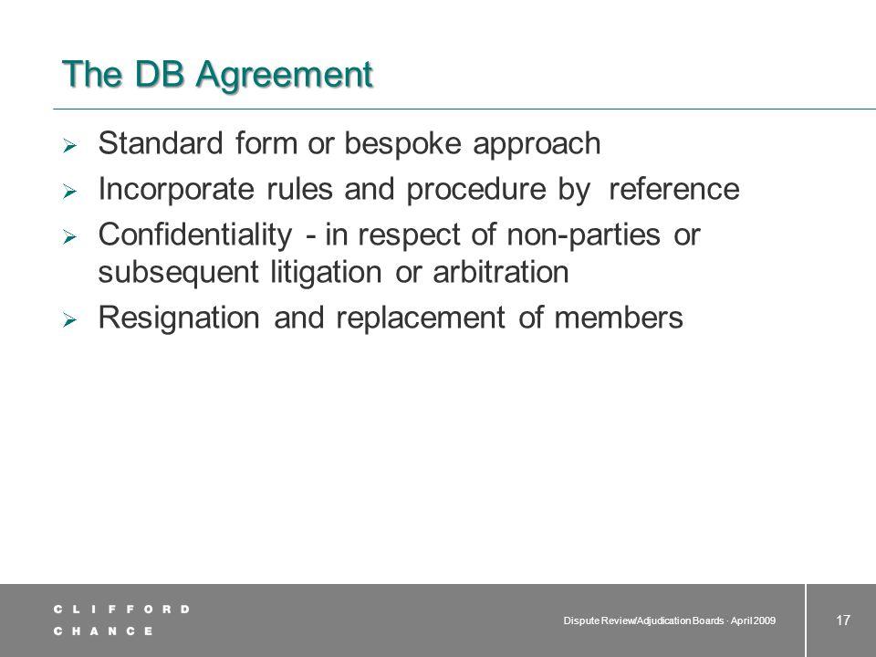 Dispute Board Rules and Procedure