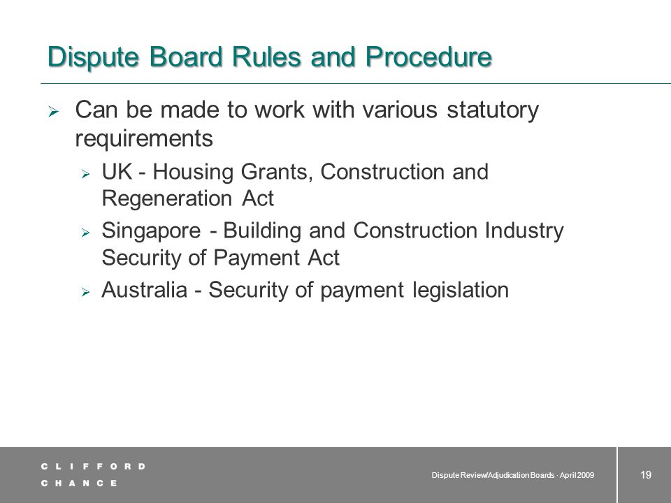 Costs Usually shared between the contracting parties