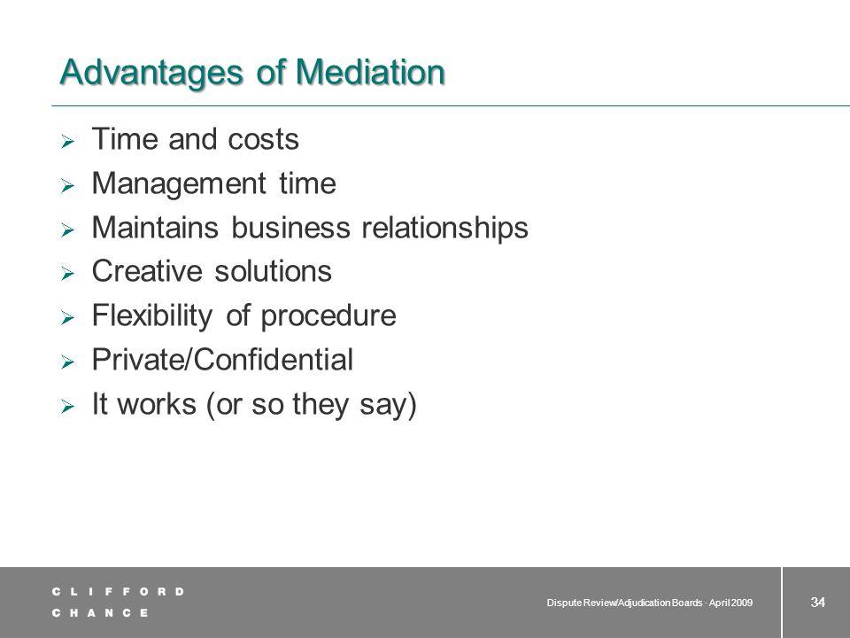 Disadvantages of mediation