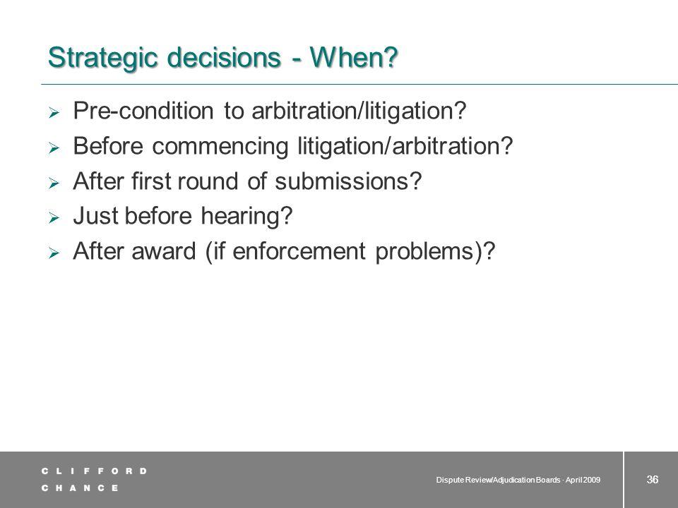 Strategic decisions - How