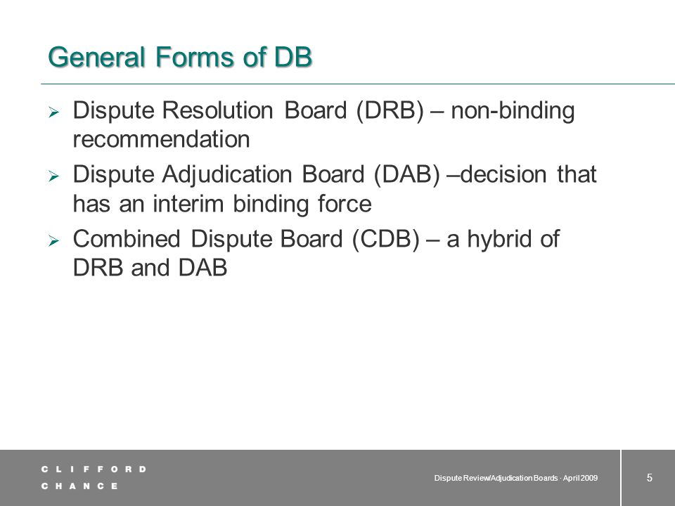 Main Differences to Other Forms of ADR